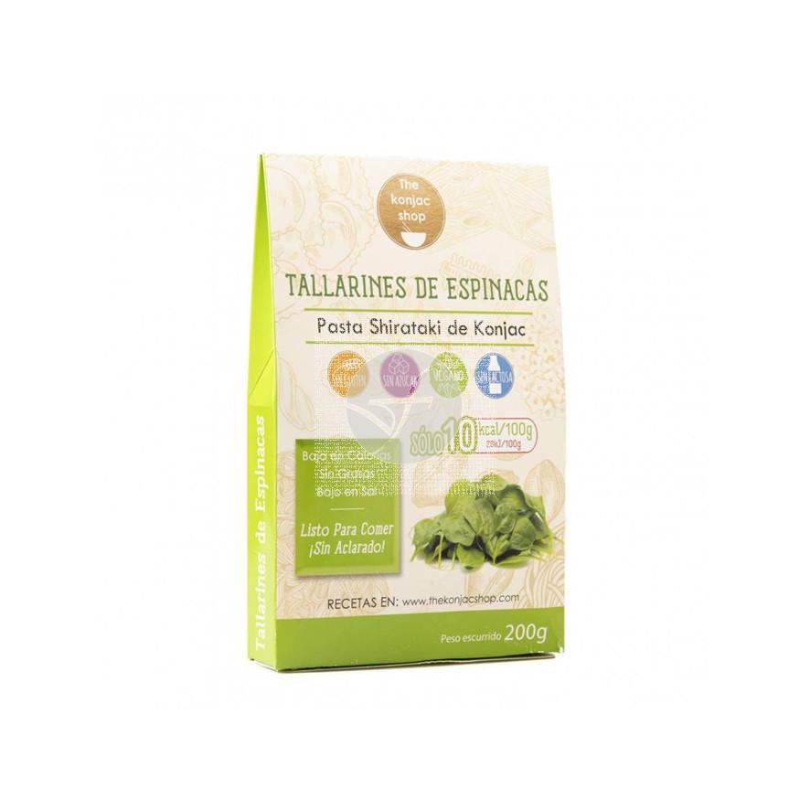 Tallarines De Espinacas The Konjac Shop