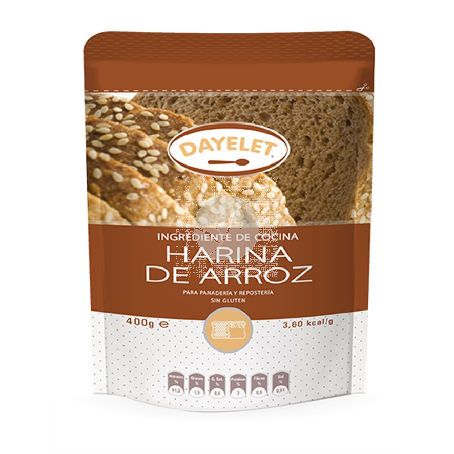 Harina de Arroz Blanco sin gluten Dayelet