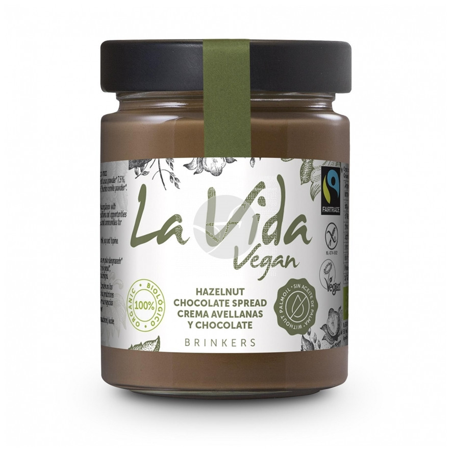 Crema Avellanas y Chocolate Bio Vegano sin gluten La Vida Vegan
