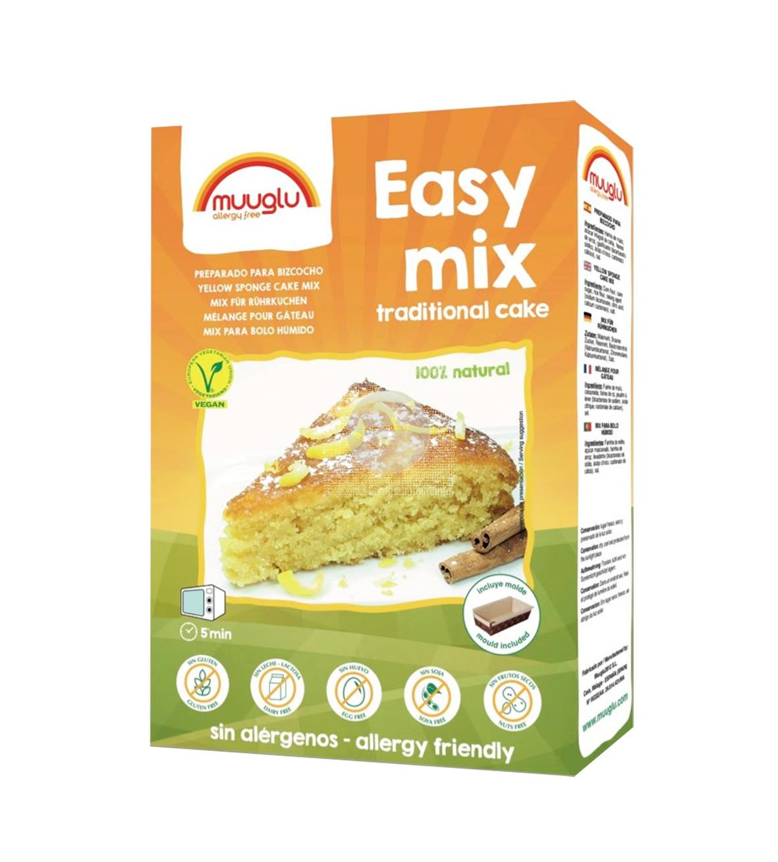 Easy Mix Preparado Para Bizcocho Tradicional sin gluten Vegano Muuglu