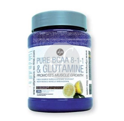 Pure Bcaa 8-1-1 & Glutamina sabor Limon 500 Gr Asn