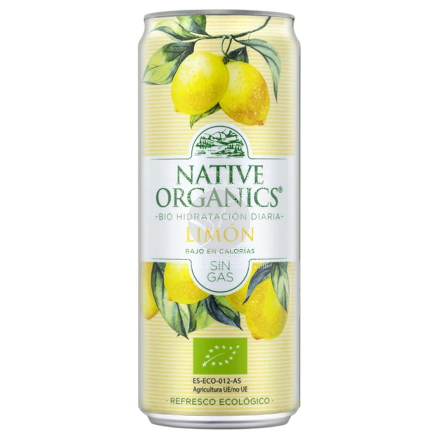 Refresco limon sin gas eco Sgluten Vegano 330ml Native Organics