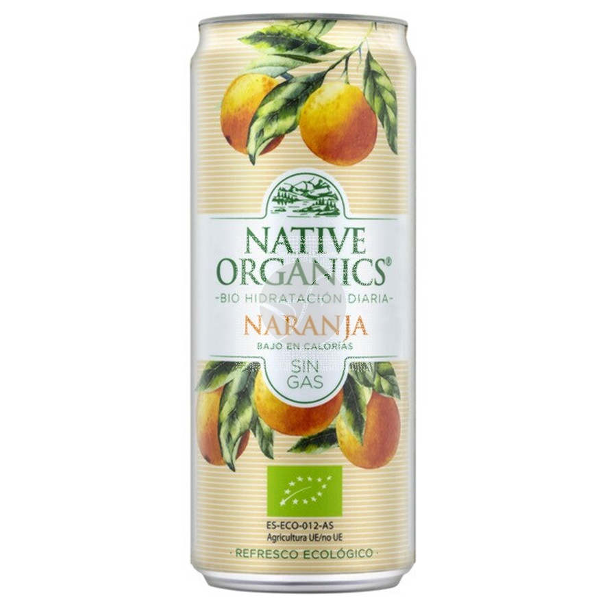 Refresco naranja sin gas, eco, sgluten, vegano 330ml Native Organics