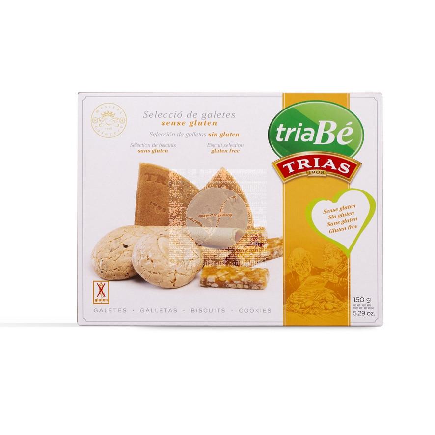 Seleccion galletas sin gluten 150gr Triabe Trias