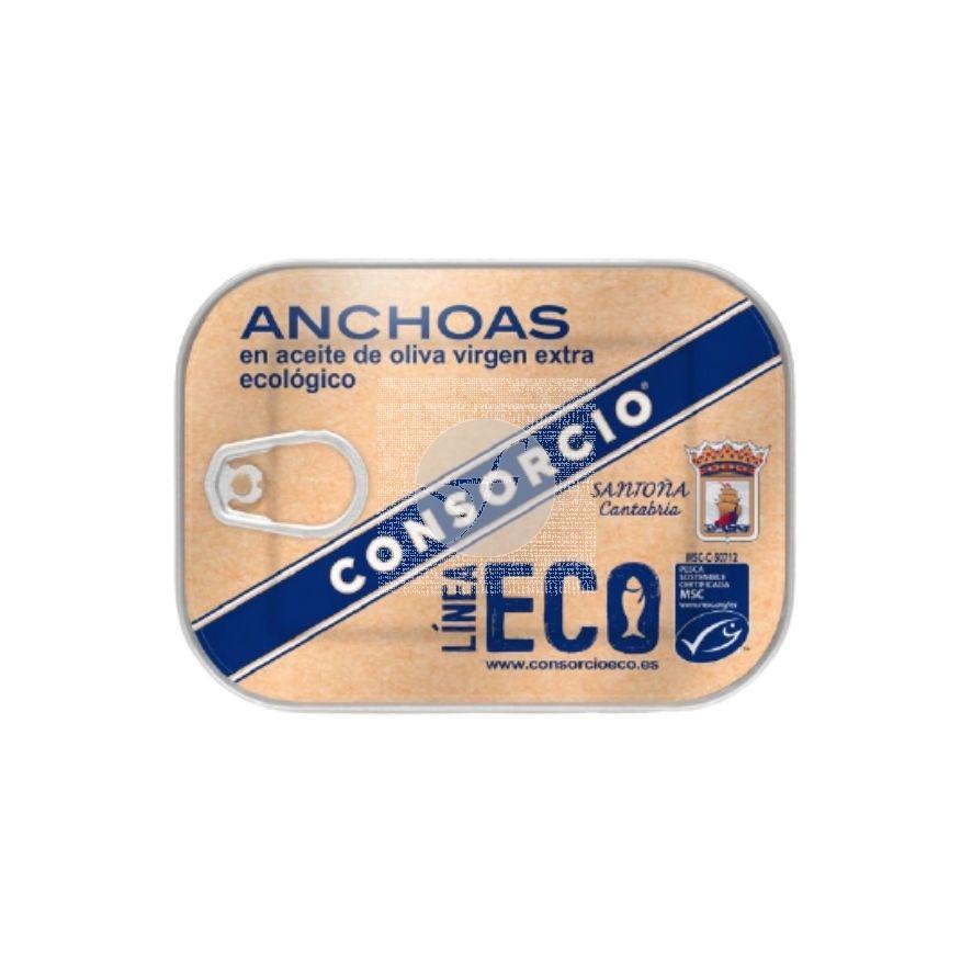 Anchoas en Aceite de Oliva Virgen Extra Eco 74gr Consorcio