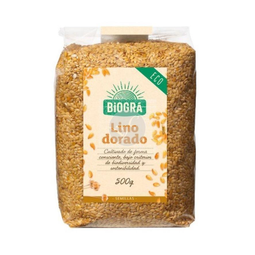 Semillas De Lino Dorado Bio 500Gr Biogra