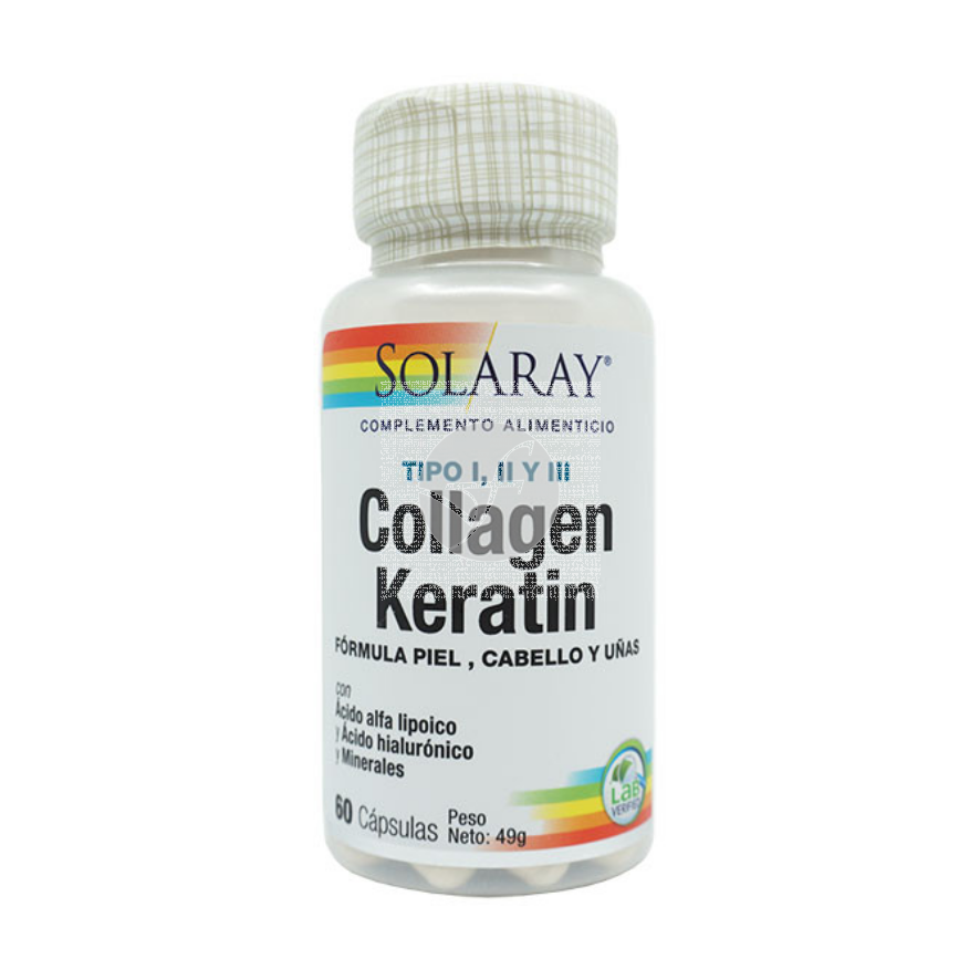 Collagen Queratina 60 capsulas Solaray