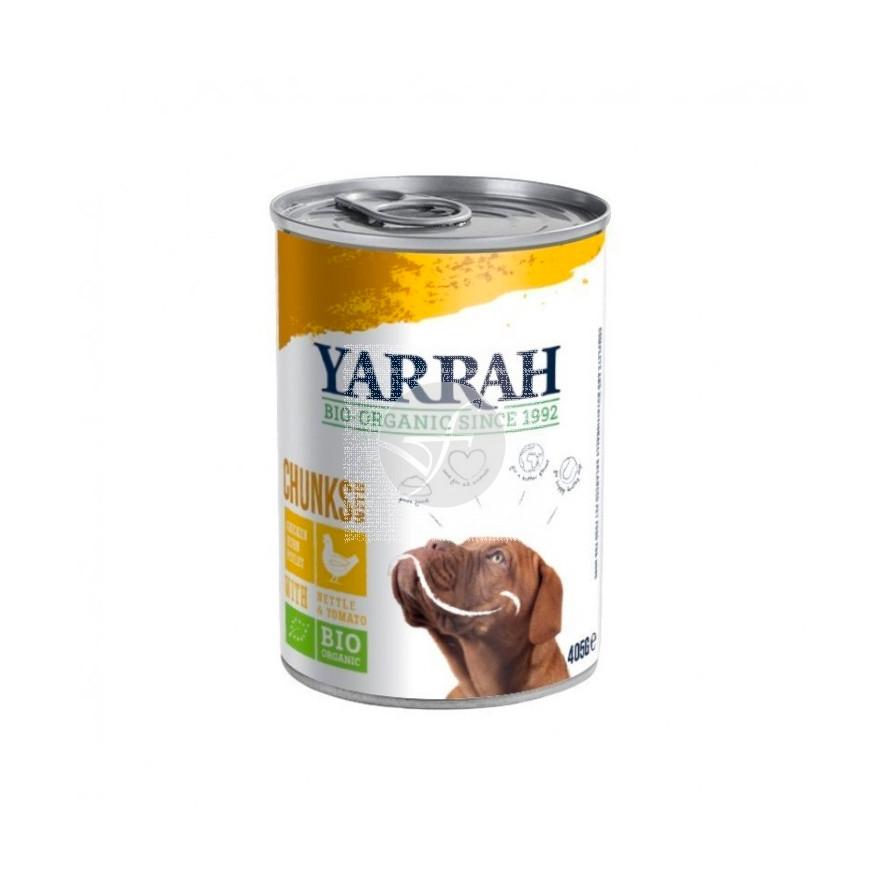 Trozos de Pollo para Perro Lata 400Gr Bio Yarrah