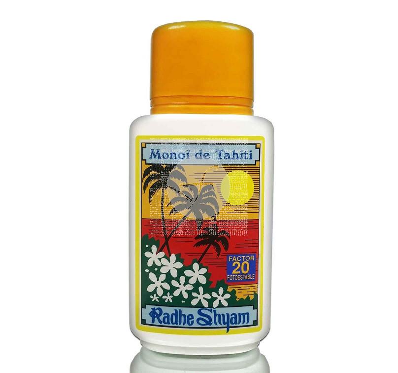 Aceite protector solar Monoi de tahiti SPF20 Radhe Shyam