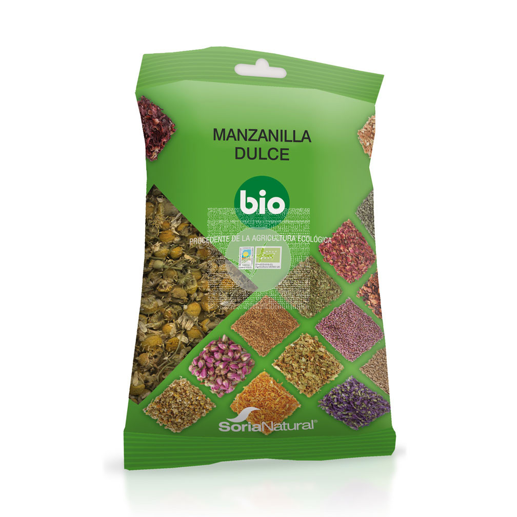 Manzanilla dulce biológico 25gr Soria Natural