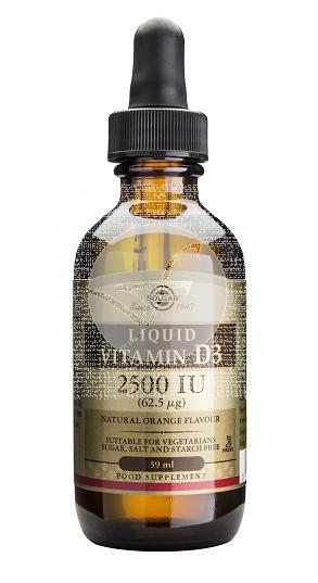 Vitamina D3 liquida 2 500UI Solgar