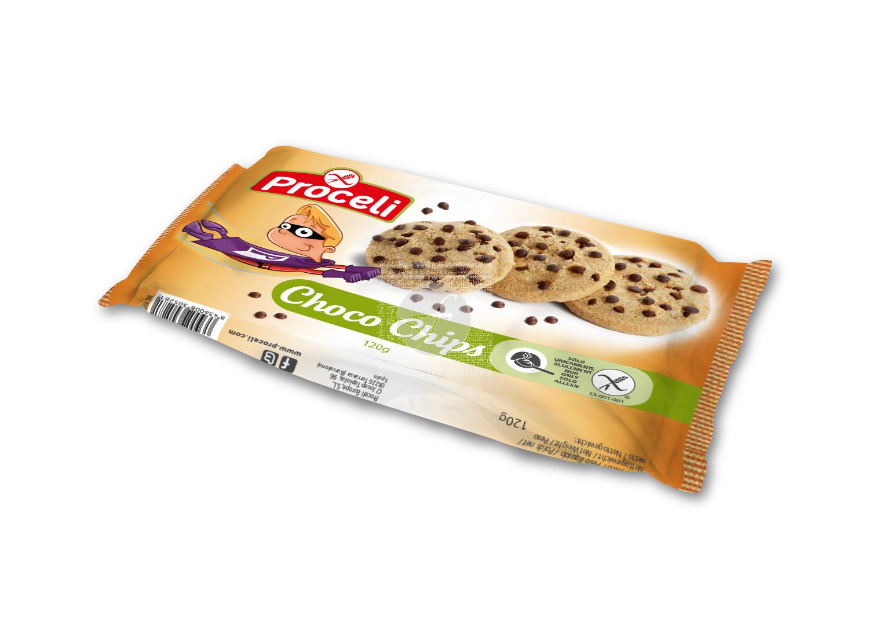 Galletas Choco Chips sin gluten Proceli