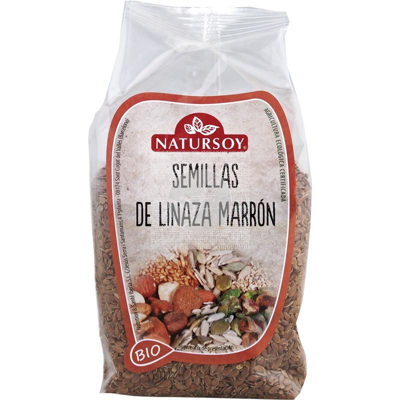 SEMILLAS DE LINO MARRON BIO NATURSOY