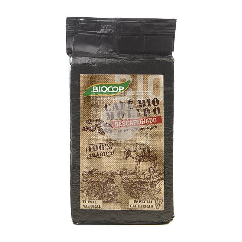 CAFE MOLIDO DESCAFEINADO 100% ARABICA BIOCOP