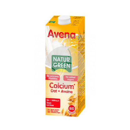 Bebida vegetal de avena con calcio Bio 1L Natur-green