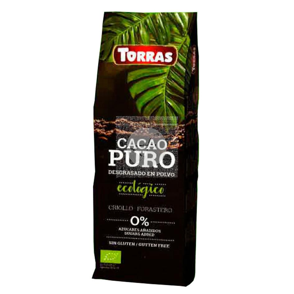 Cacao puro desgrasado en polvo Bio 150 gr Torras