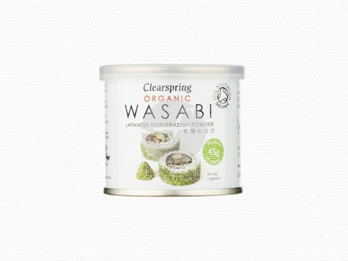 Wasabi polvo lata orgánico 25gr Clearspring