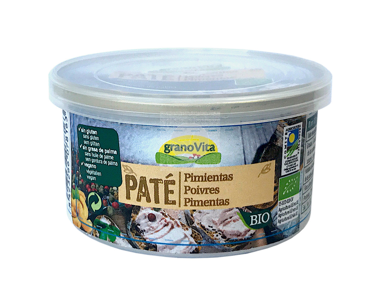 Pate A Las Pimientas Bio Vegano Granovita