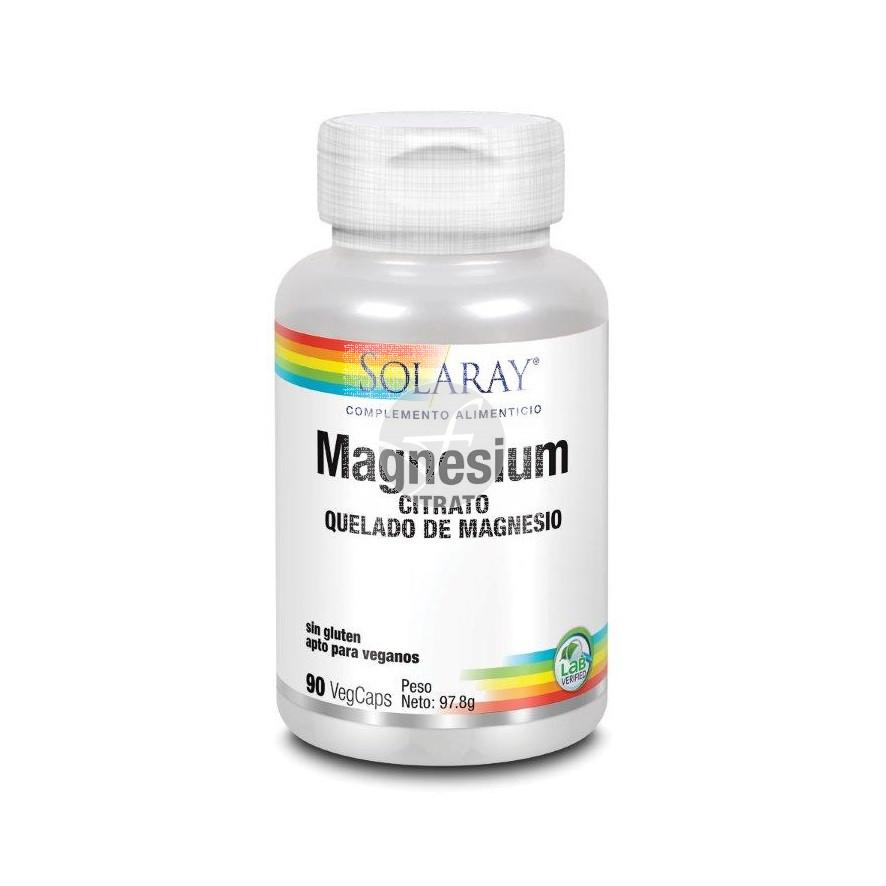 Magnesium citrato quelado de magnesio 90 cápsulas Solaray