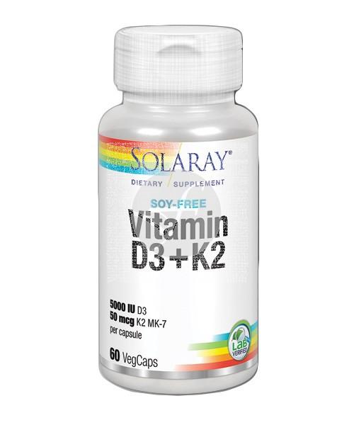 Vitamina D3+K2 Solaray