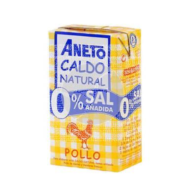 Caldo Natural De Pollo 0% Sal Añadida Aneto