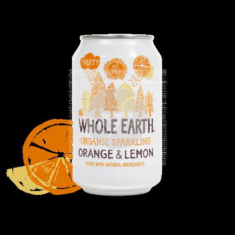Refresco Bio de naranja y limón Whole Earth