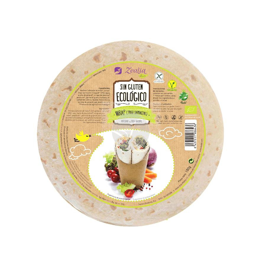 Wrap De Trigo Sarraceno sin gluten Bio Zealia