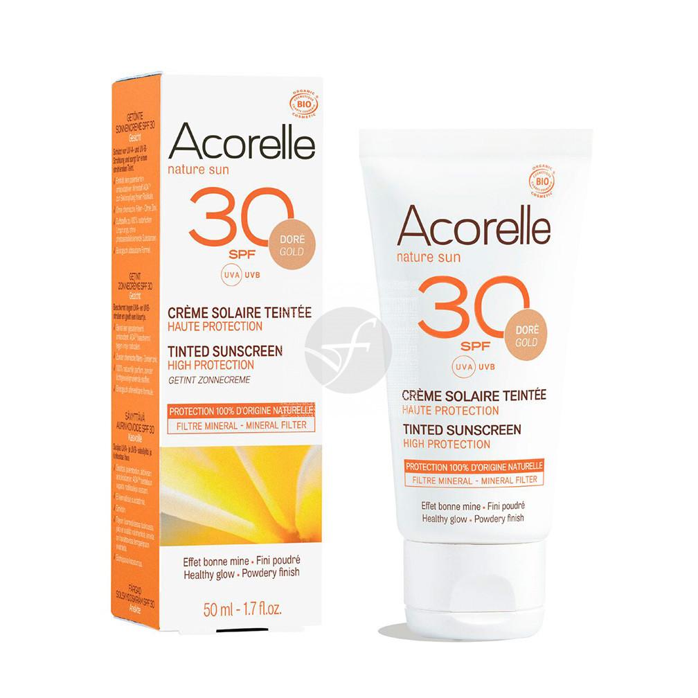 Crema solar facial color dore SPF30 Acorelle