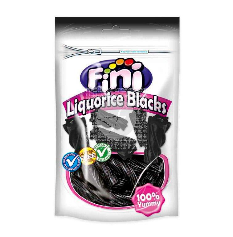 Regaliz sin gluten negro tacote doypack Fini
