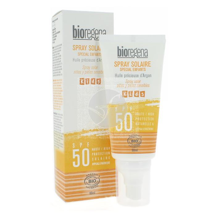 Spray Solar Niños y pieles sensibles Spf50 Bio Bioregena