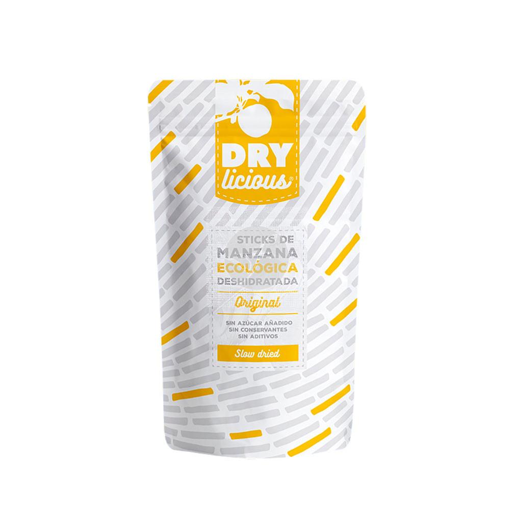 Sticks de manzana Eco deshidratada orginal Drylicious