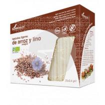 Tostadas Ligeras De Arroz integral y Lino Soria Natural