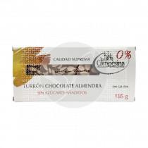Turrón chocolate almendras s/a s/g La Campesina