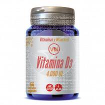 Vitamina D3 4000ui 60cápsulas Ynsadiet