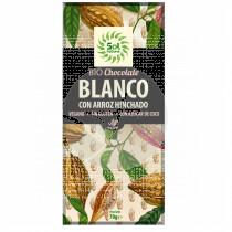 Chocolate Blanco Arroz Hinchado Bio sin gluten Vegano Solnatural