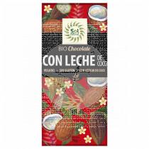 Chocolate con Leche De Coco Bio sin gluten Vegano Solnatural