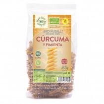 Bio Fusilli de Maiz con Curcuma y Pimienta Sin Gluten 250gr Solnatural