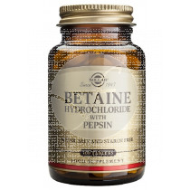 Betaina Clorhidrato con Pepsina 100 comprimidos Solgar