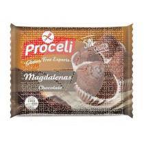 Magdalenas De Chocolate sin gluten 4Ud Proceli