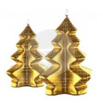 Vela Arbol De Navidad Dorado 12X20Cm Cerabella