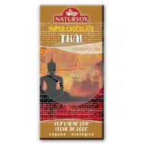 SUPER CHOCOLATE THAI 60% CACAO CON LECHE DE COCO ECO VEGANO NATURSOY