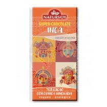Super Chocolate Inca 70% Cacao con Quinoa Hinchada Eco Vegano Natursoy