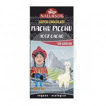 SUPER CHOCOLATE MACHU PICHU 100% CACAO SIN AZUCAR ECO VEGANO NATURSOY