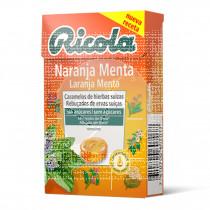 Caramelos de Naranja Menta sin azúcar Ricola