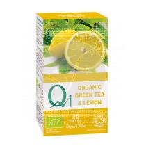 Infusión de té verde con limón Qi