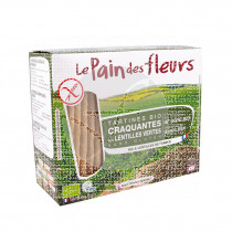 Tostadas Lentejas verdes sin gluten Bio Le Pain Des Fleurs
