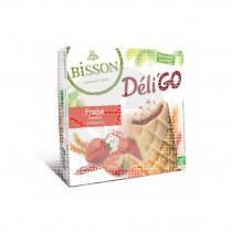 Galleta Deli go Fresa Bio 150gr Bisson