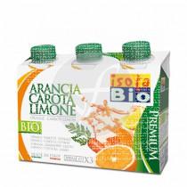 Zumo De Naranja Zanahoria y Limon con Agave Isola Bio