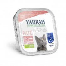 Tarrina comida para gatos con salmón bio Yarrah