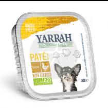 Paté bio de pollo y algas para perros Yarrah
